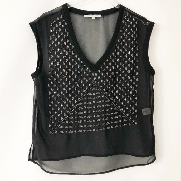 Search for Sanity Tops - Search For Sanity beaded top
